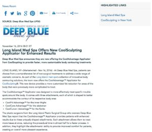 Deep Blue Med Spa Offers CoolAdvantage Applicator
