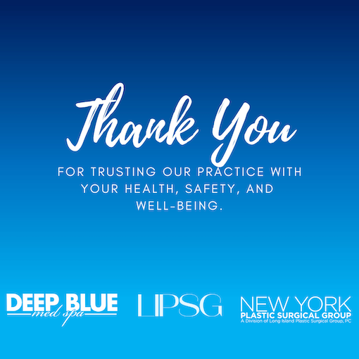 Thank you from Deep Blue Med Spa graphic